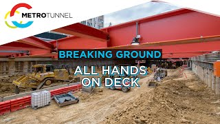 Breaking Ground: Parkville Station deck construction