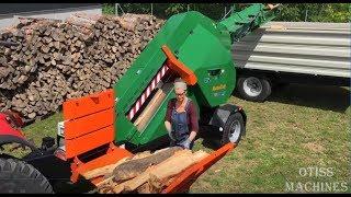 10 Extreme Fast Automatic Firewood Processing Machine,Modern Wood Cutting Machine Splitting Firewood
