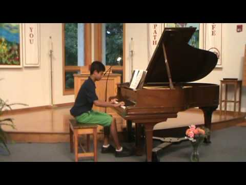This is a student who has studied with me for 5 years.  He had no piano training before our lessons.  Please enjoy this piece (C. Bach)