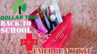 DOLLAR TREE BACK TO SCHOOL EMERGENCY KIT 2020