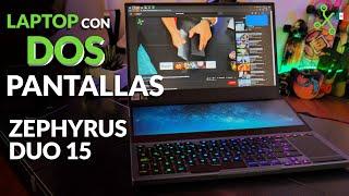 Zephyrus Duo 15, PROBAMOS la laptop de Asus con DOS PANTALLAS y la MÁS potente para JUGAR