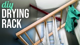 DIY Wall Mounted Drying Rack - HGTV Handmade