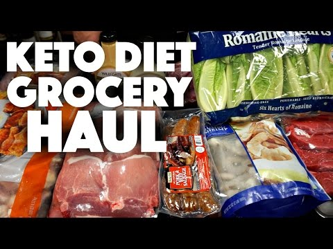 Video Keto Diet Grocery Haul - low carb - meal prep - weight loss - keto recipes