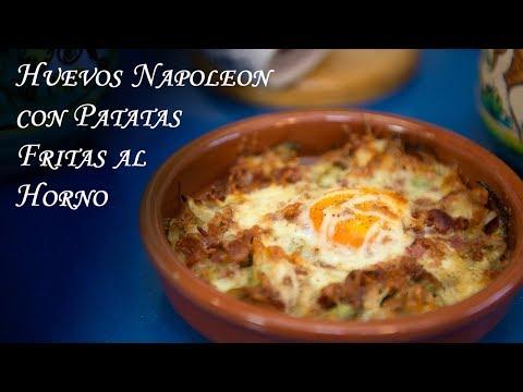 Huevos Napoleon con Patatas Fritas al Horno