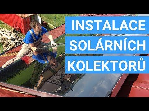 Instalace solárních kolektorů na ohřev vody