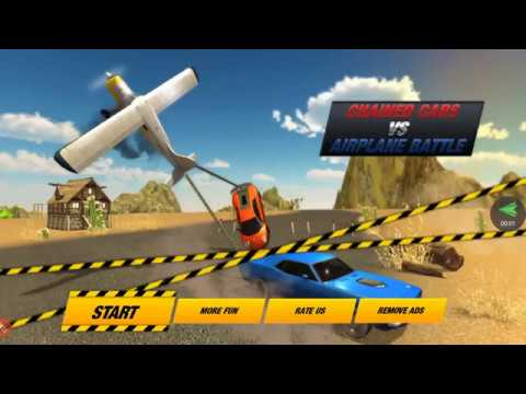 Chained Cars Crash VS Cargo Plane - Game Video