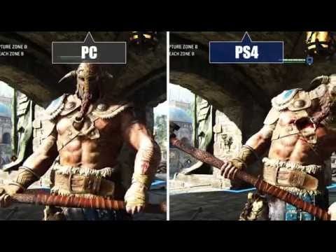 For Honor (Alpha) PC vs. PS4 - Graphics comparison / Grafikvergleich