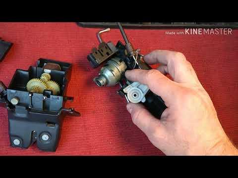#кпд78 Mercedes W203, W211, Закрылся замок багажника, как сделать замок багажника. ®️