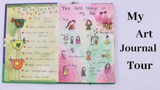 My Handmade Art Journal Writing ideas / My Journal Tour/ How to Write Diary By Aloha Crafts