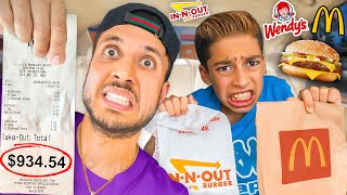 LETTING The Person in FRONT of us DECIDE what we EAT for 24 hours!! | The Royalty Family