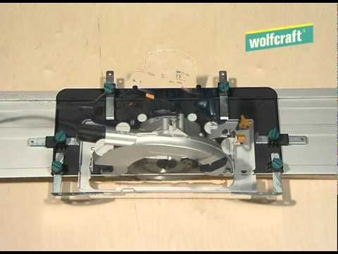 Guía soporte de corte para sierra circular 1150 x 242 x 50 mm  - FKS 115 Wolfcraft 6910000