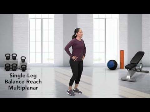 How to do a Single Leg Balance Reach Multiplanar - YouTube