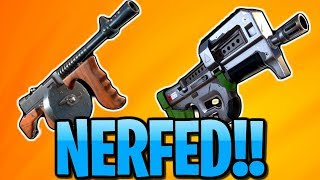 DRUM GUN & COMPACT SMG NERF | FORTNITE WEAPONS AND BUILDING BALANCE
