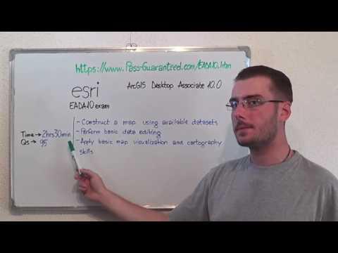 EADA10 – ArcGIS Exam Desktop Test Associate Questions - YouTube
