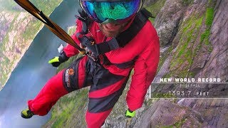 """Watch as Carlos Munoz attempts to set the world record for for a static line rope jump.  Freefalling over 1000ft.  Shot 100% on GoPro – https://goo.gl/Dh7sMG  Mounts used in this video – https://goo.gl/xXS52M  Comment below on your favorite part!  Get stoked and subscribe: http://goo.gl/HgVXpQ  Music  Dexter Britain """"Seeing The Future""""  For more from GoPro, follow us: Facebook: https://www.facebook.com/gopro Twitter: https://twitter.com/gopro Instagram: https://instagram.com/gopro Tumblr: http://gopro.tumblr.com/ Pinterest: http://www.pinterest.com/gopro    Inside Line: https://gopro.com/news GoPro: https://gopro.com/channel/"""
