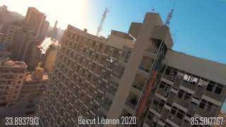 Beirut Libanon 2020 FPV footage after the blast