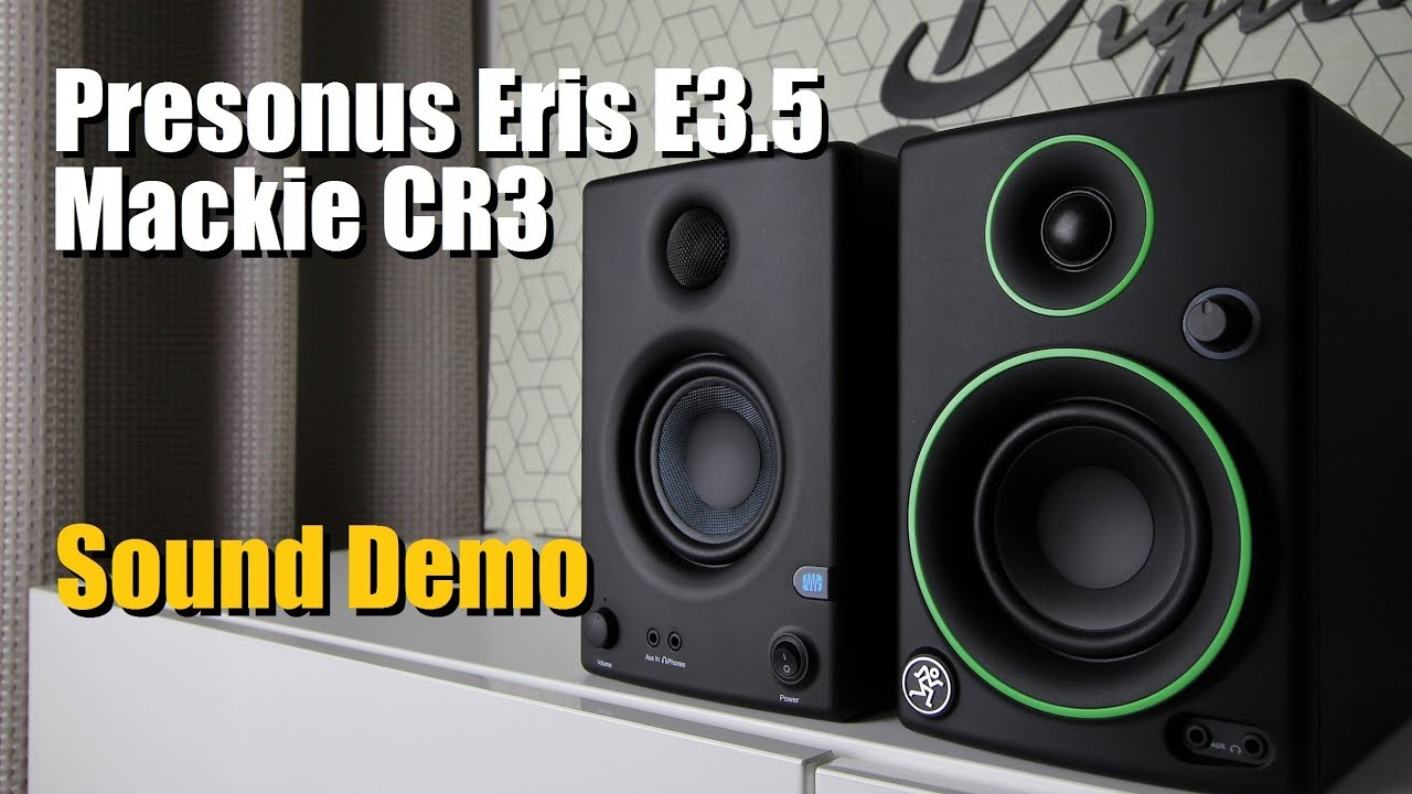 Presonus Eris E3 5 vs Mackie CR3 || Sound Demo w/ Bass Test