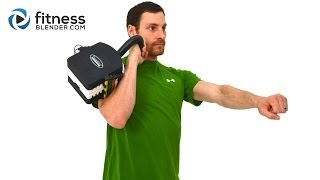 Calorie Blast Kettlebell Workout Video - 20 Minute Upper Body Kettlebell Workout Routine by FitnessBlender
