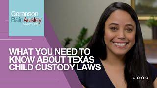 Video thumbnail: Austin Child Custody Attorney Explains Texas Child Custody Laws