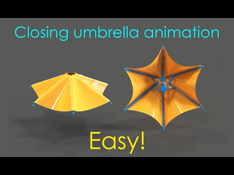 Making an umbrella animation – 3ds max tutorial