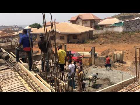 Foumban, Wamso erste Hilfe Station, Baustelle 2017 -12