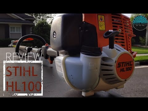 STIHL REVIEW HL 100 HEDGE TRIMMER! Extended with articulating head/Late Employees1
