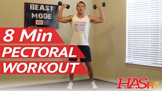 8 Minute Killer Chest Workout at Home - Chest Exercises Routine - Pectoral Workout - Chest Work Out by HASfit