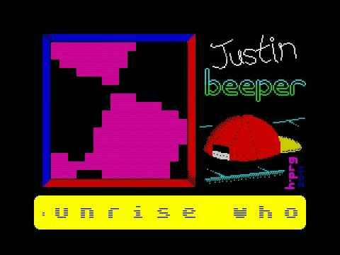 Justin Beeper (ZX Spectrum 16K demo by Hooy-Program, 2011)
