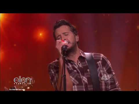 Luke Bryan performs Most People Are Good are on Ellen