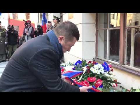 Tomio Okamura: Pokojně jsme uctili památku boje za svobodu a demokracii na pietním aktu u Hlávkovy koleje v Praze