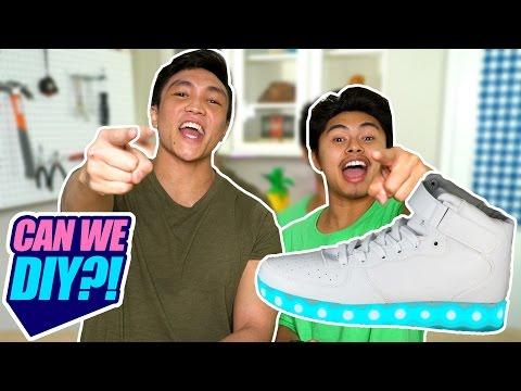 DIY LIGHT UP SHOES?! | CAN WE DIY?!