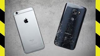 iPhone 6S vs. Galaxy S7 Drop Test!
