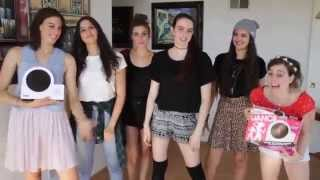 "Cimorelli dancing ""Come Over"" on the new Twister Dance"