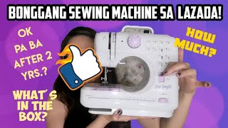 SEW SIMPLE SEWING MACHINE REVIEW AFTER 2 YRS. || LAZADA PORTABLE SEWING MACHINE