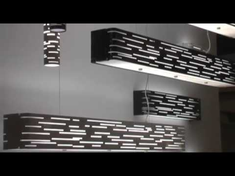 Video for Revel Gloss Black Two-Light Fluorescent Linear Suspension Pendant with Maple Wood Trim