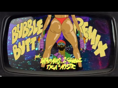 Bubble Butt Remix (feat. Bruno Mars, 2 Chainz, Tyga & Mystic) (Official Lyric Video)