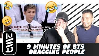 GUYS REACT TO '9 Minutes of BTS Dragging People'