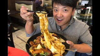 GIANT Bowl of SPICY Noodles & Sriracha Factory Tour!