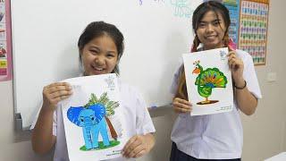 หนังสั้น | ชั่วโมงศิลปะ ภาพระบายสีสัตว์ป่า ผู้น่ารัก | Art Hour Lovely Wildlife Coloring Pages