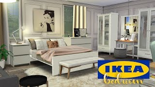 IKEA INSPIRED BEDROOM | The Sims 4 Speed Room Build