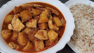 طريقة تحضير يخنة البطاطا مع الدجاج بخطوات سهلة وبمكونات متوفرة Delicious Chicken Potato Stew Recipe