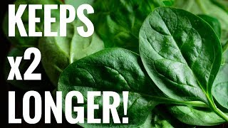 Quick Tip - Easiest Way to Keep Spinach Fresh For Longer (Works with ANY green)