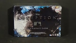 2018 Topps Inception Baseball Hobby Box Break! Nice!