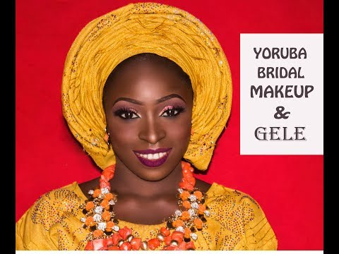 NIGERIAN BRIDAL MAKEUP AND GELE TUTORIAL/ YORUBA BRIDE!!!