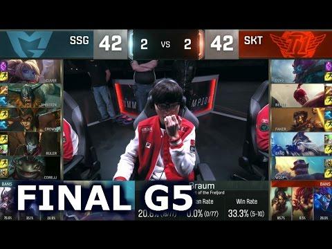 SKT vs SSG - Game 5 Grand Finals Worlds 2016 | LoL S6 World Championship Samsung vs SK Telecom T1 G5