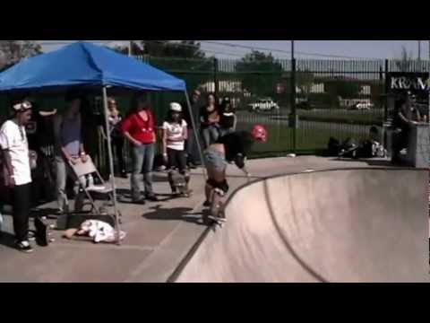 SkatePril Fools Fontana-South Bowl Contest Girls Finals 2012