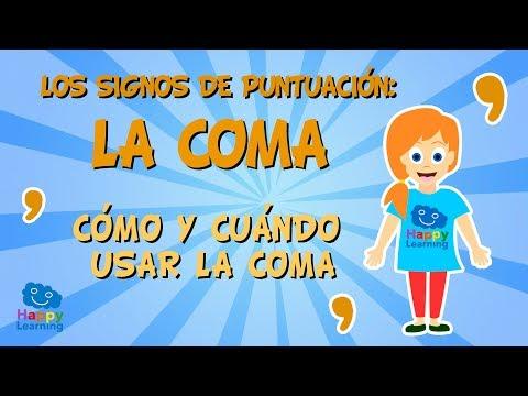 Los signos de puntuación. La coma. Cómo y cuándo usar la coma   Vídeos Educativos para Niños