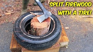 Split Firewood with a Tire! Upgrade.