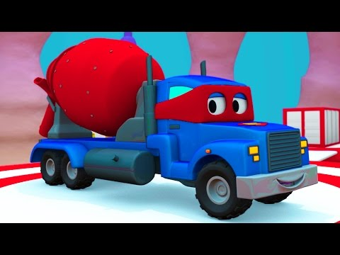 Carl Super Truck And The Plane In Car City Truck Cartoon For Kids