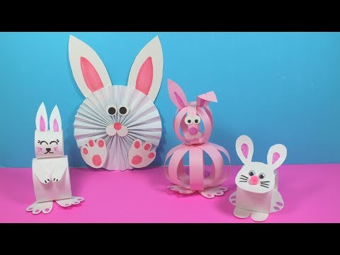 Easy paper bunny craft ideas paper crafts for kids easy kids
